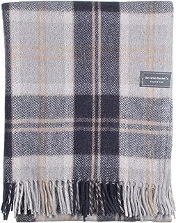 recycled wool tartan blanket