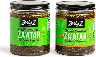 Zesty Z Savory and Spicy Za'atar Spice Blend Variety Pack (Zaatar/Zatar/Zahtar), Mediterranean Condiment, All Natural, Gluten Free, Vegan, Keto, Paleo, Sugar Free, 8.1 ounces, Pack of 2