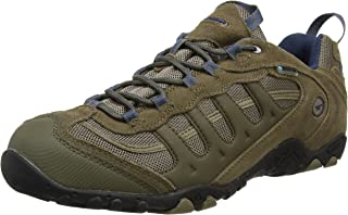 Hi-Tec Men's Penrith Waterproof Low Rise Hiking Boots, Brown (Smokey Brown/Taupe/Majolica Blue), 12 AU