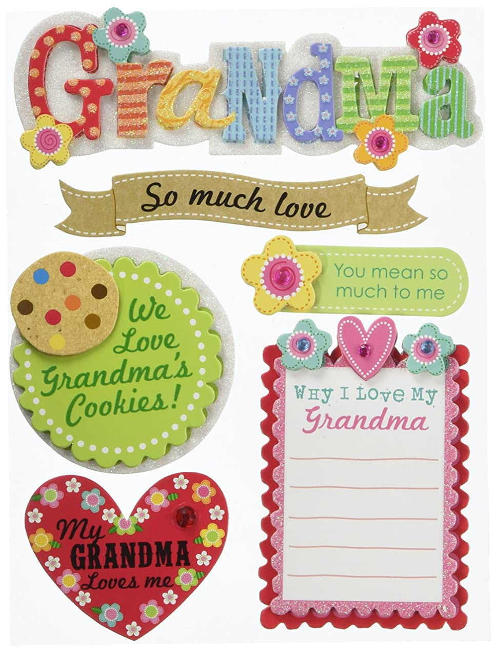 me & my BIG ideas Soft Spoken Themed Embellishments, Grandma