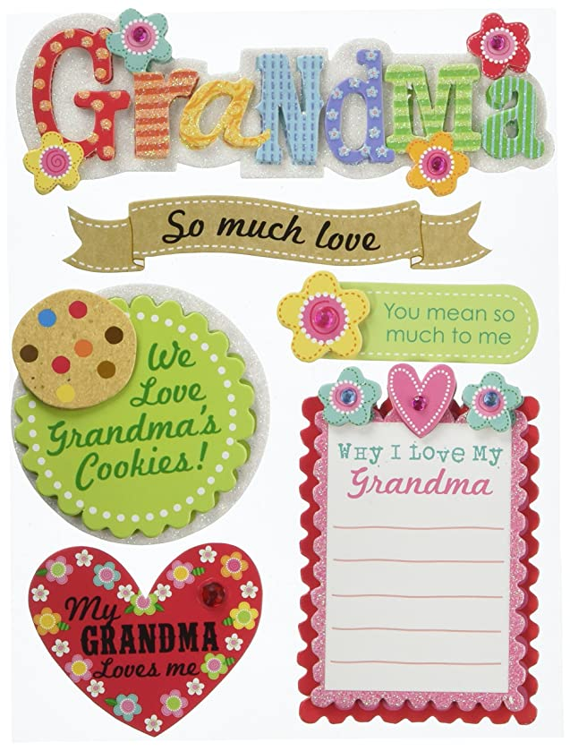 me & my BIG ideas Soft Spoken Themed Embellishments, Grandma