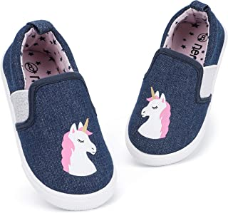 RANLY & SMILY Toddler Girls Shoes Slip On Casual Sneakers