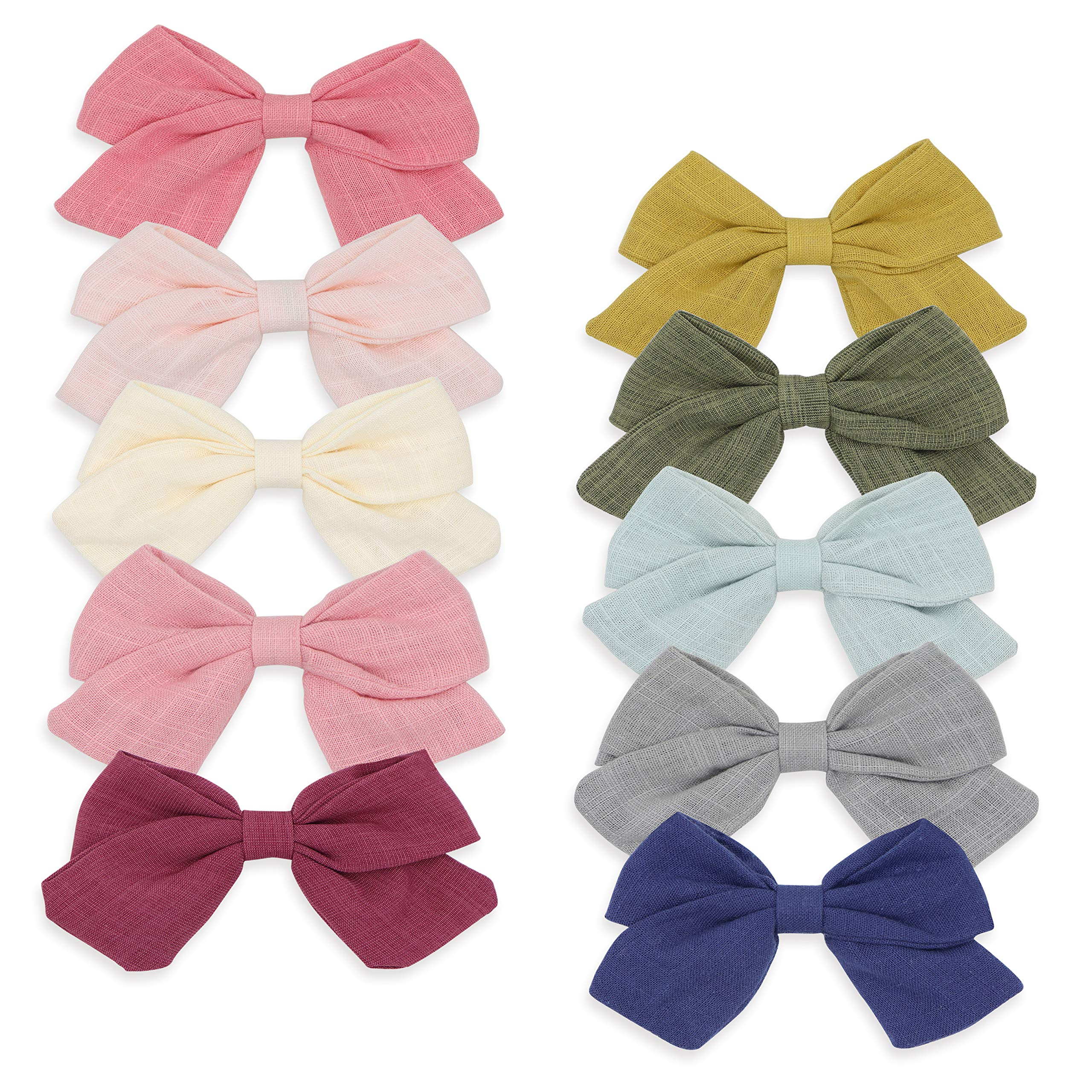 Mustard hair clips bows clips mustard  Bow Hair Clips Baby Girl school bow clips