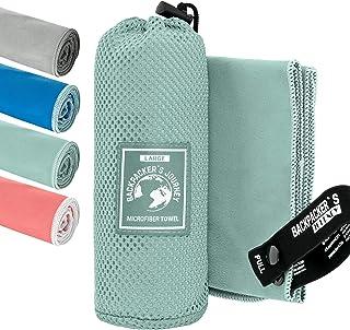 Backpacker's Journey Mikrofaser Handtücher in S M L XL. Reisehandtuch Sets leicht, schnelltrocknend, saugfähig und antibak...