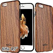 NeWisdom iPhone 6 6S Case Wood Non Slip Thin Slim Unique Designed Cover - Sandal