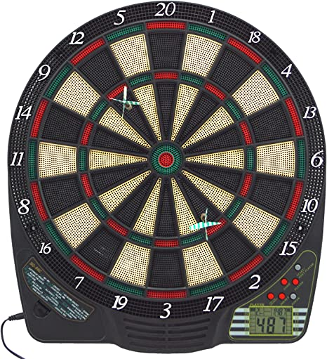 LCD Dartscheibe Dartboard Wurfpfeil Dartspiel Elektronische Dartscheiben+6Darts