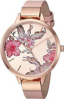 Nine West NW/2044RGPK Reloj de pulsera para mujer, tono oro rosa y rubor rosa