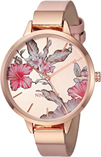 Floral Rose Goldtone Watch