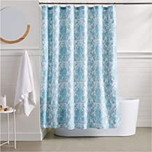 Amazon Basics Blue Bella Bathroom Shower Curtain - 72 Inch