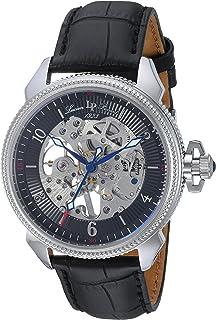 Lucien Piccard Men's LP-40052M-01 Trevi Analog-Display Mechanical Hand-Wind Black Watch