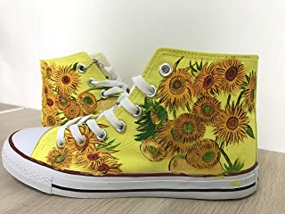 84b6f3b1438cfb Hand Painted Shoes Vincent Van Gogh Sunflowers Hi Top Shoes Custom Chuck  Taylors Men Women FREE