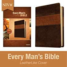 Every Man's Bible NIV, Deluxe Heritage Edition, TuTone (LeatherLike, Brown/Tan) –..