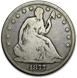 1877 S Liberty Seated Half Dollar VG Half Dollar Very Good
