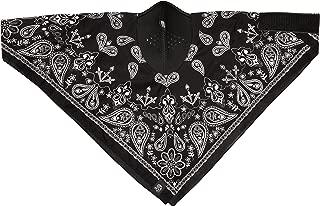 Zanheadgear WNEO101 NeoDanna Paisley 100 Percentage Cotton Bandanna with Neoprene Face Mask (Black)