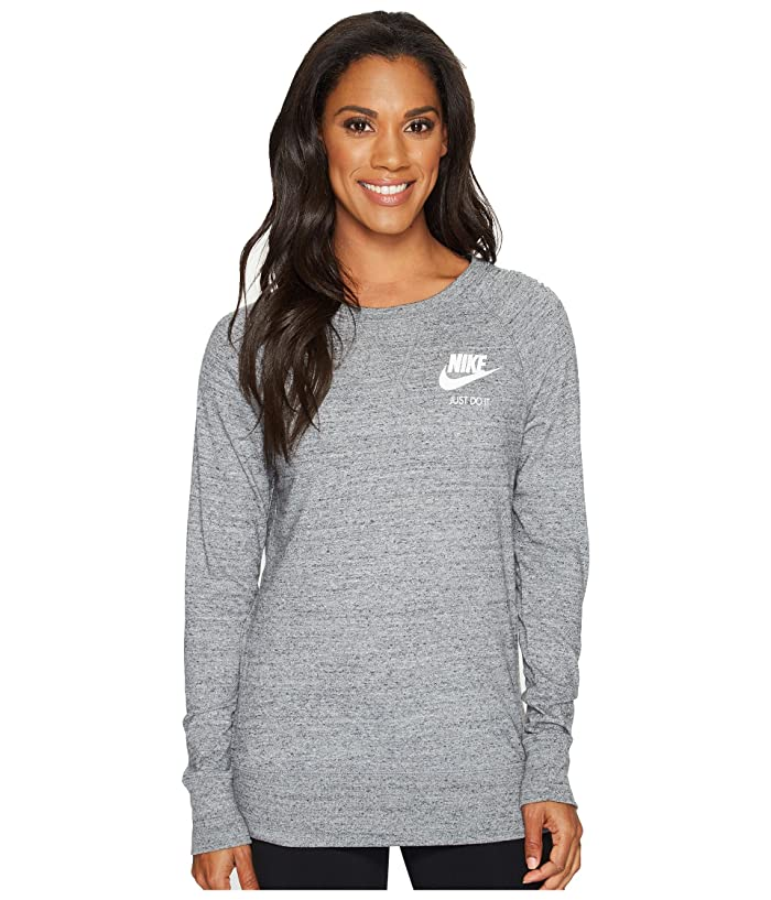Nike Sportswear Gym Vintage Crew (Carbon Heather/Sail) Women