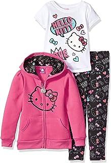 Hello Kitty Girls 3 Piece Hooded Legging Set