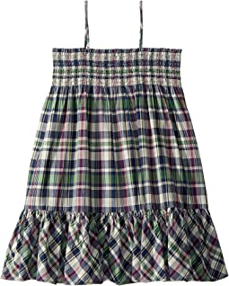 Cotton Madras Dress (Big Kids)
