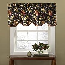"""WAVERLY ستائر النوافذ - فيليكيت 50"""" x 15"""" ستارة قصيرة نافذة ستائر الحمام ، غرفة المعيشة والمطابخ ، نوير"""