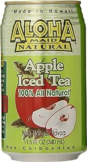 Aloha Maid Natural Iced Tea, Apple, 11.5 Ounce (Pack of 24)