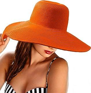 قبعة شمس عريضة الحواف للنساء - قبعة مطاطية للحماية من الشمس قبعة شاطئ صيفية