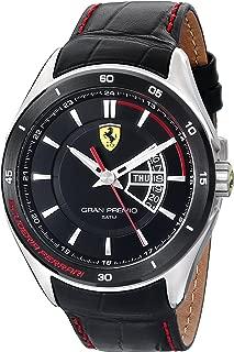 Men's 0830183 Gran Premio Analog Display Quartz Black Watch