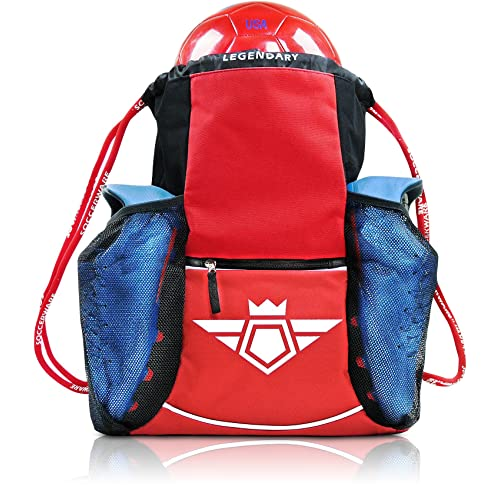 4545f57c5 Soccer Bag Backpack - Organize Sports Gym Equipment - Boys Girls