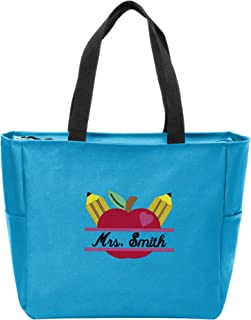 personalized teacher bags and totes