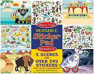Melissa & Doug Reusable Sticker Pads Set: Adventure - 245+ Stickers