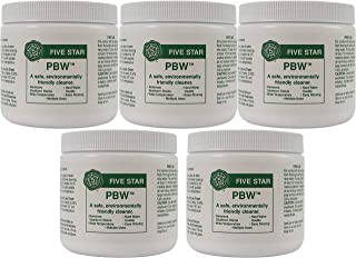 Five Star PBW - 1 lbs - Non-Caustic Alkaline Cleaner, 5 Pack
