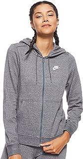 Nike Felpa con Cappuccio Zip Donna Nera BV3984010: Amazon.it