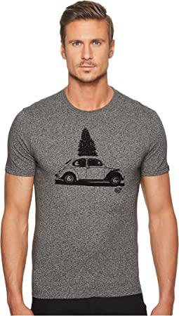 Original Penguin - Short Sleeve Flocked Christmas Car Tee