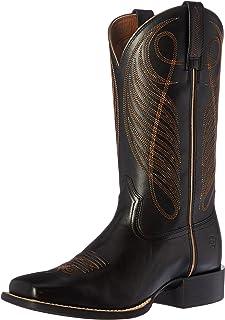 حذاء رعاة البقر الغربي ذو مقدمة دائرية واسعة من Ariat