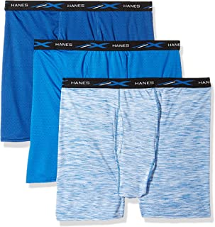 Men's X-Temp Lightweight Mesh Space Dye Boxer Brief 3-Pack Underwear