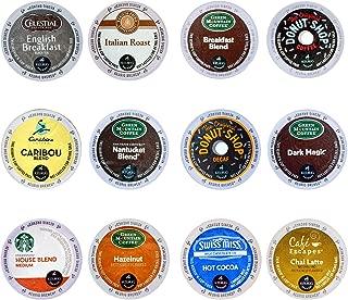 Coffee Tea & Hot Chocolate Variety Sampler Pack for Keurig K Cup Brewers, 72 Count