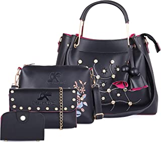 Speed X Fashion Women's Handbag With Sling Bag & Clutch,Card Slot (Set of 4)