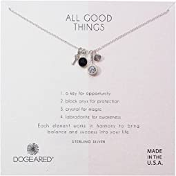 Dogeared - All Good Things, Black Onyx, Labradorite Cluster Necklace
