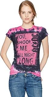 Women's Ac/dc Shook Me All Night Long Tie Dye Graphic Tee