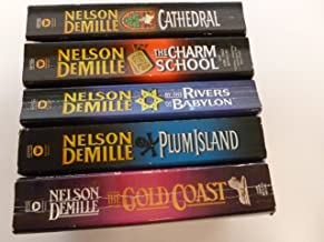 Nelson Demille, Set of 5 Mass Paperback Books (By the Rivers of Babylon, Plum Island, The Gold Coast, The Charm School, Ca...