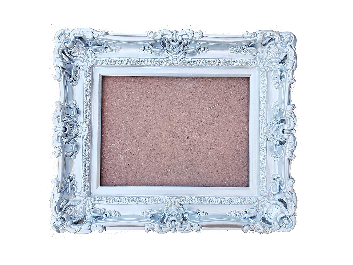 Max 52% OFF 12x16 Silver Picture Frame Sales Baroque Art Wall Wedding frame Gift