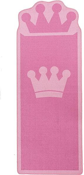 Pink Kids Rug For Bedroom Boys Girls Bedside Carpet Kids Runner Rugs Crown Style Children Carpet Ideal Gift For Kids Room D Cor 26 X 71 Inches