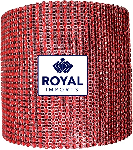 wholesale Red 2021 Diamond Sparkling Rhinestone Bling Wrap outlet sale Christmas Ribbon Bulk DIY Roll for Event Decorations, Wedding Cake, Bridal/Baby Shower, Birthdays, Arts & Crafts Vase & Party Decorations - 30 Ft - 1 Roll sale
