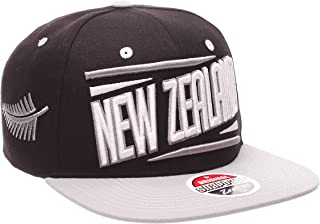Country Flag Soccer Victory Snapback Cap - Flat Bill, Adjustable Baseball Hat (New Zealand)