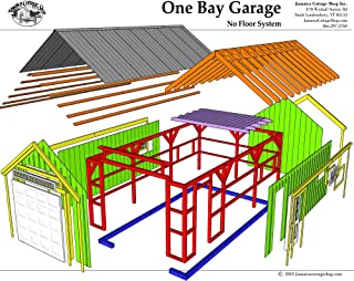 Step-By-Step DIY PLANS - 14x20 Timber Frame Post & Beam One Bay Garage Plans with Loft - Step-By-Step DIY Building Plans