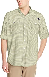 Columbia Men's Super Bahama Long Sleeve Shirt, Sunlit Mini Check, X-Large