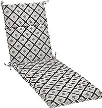 AmazonBasics Outdoor Lounger Patio Cushion - Black Geo