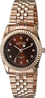 August Steiner Women's Marquess Analogue Display Japanese Quartz Watch with Stainless Steel Bracelet
