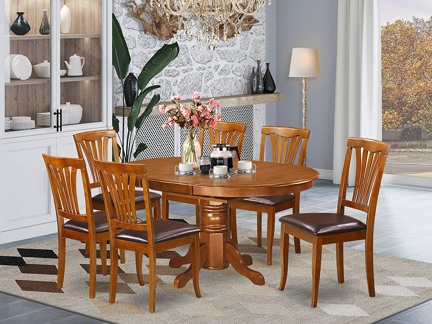 East-West Furniture Ranking TOP16 mid-century dining table wo Regular discount set- excellent 6