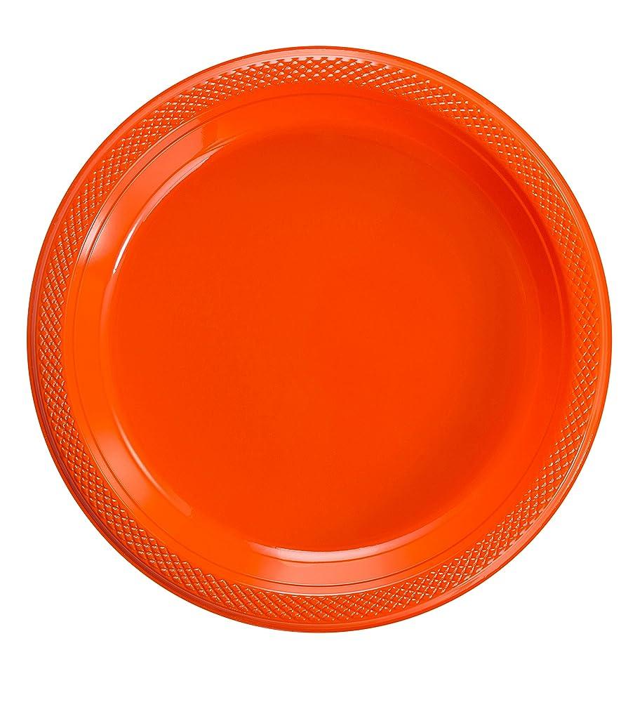 明らかぬいぐるみグラム7インチ オレンジプラスチックプレート (10)
