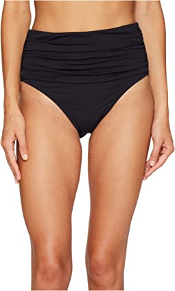 Kore Shirred High Waist Bikini Bottom