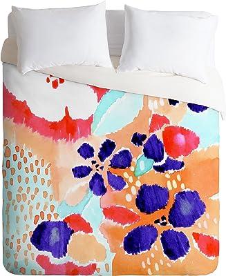 Deny Designs CayenaBlanca Ikat Flowers Duvet Cover, King